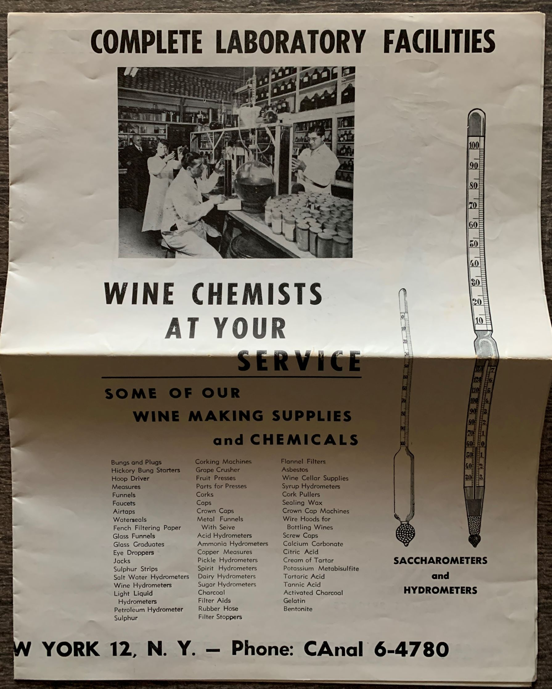 Image for Milan Laboratory, Complete Laboratory Facilities, Wine Chemists at Your Service.  Some of our Wine Making Supplies and Chemicals.