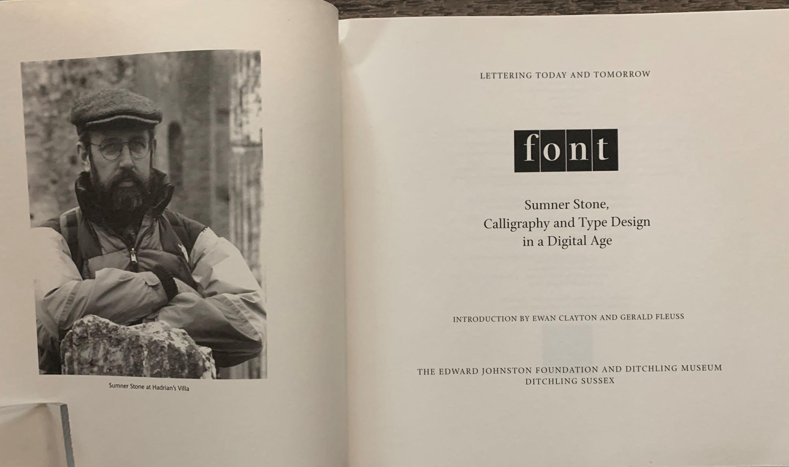 Image for Font. Sumner Stone, Calligraphy and Type Design in a Digital Age.