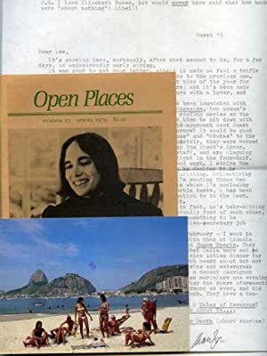 Image for Open Places, Number 27.  With t.l.s. (c. 1980-81) by featured poet Marilyn Hacker to colleague Lew Ellingham; also an autograph post card signed, by Hacker to Ellingham from Rio De Janeiro, March, 1981.