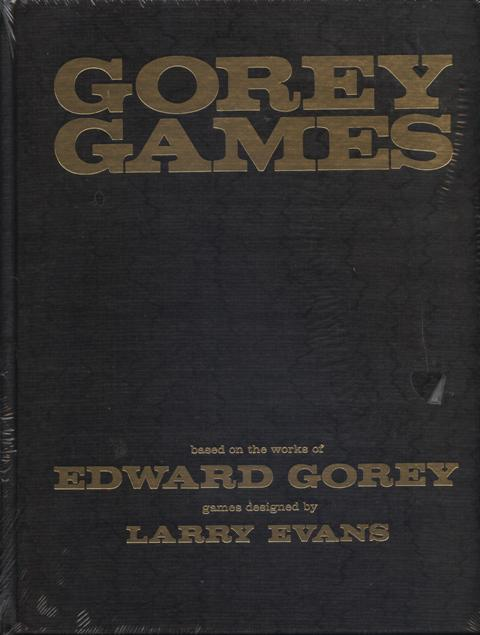 Image for Gorey Games.  based on the works of Edward Gorey, games designed by Larry Evans.