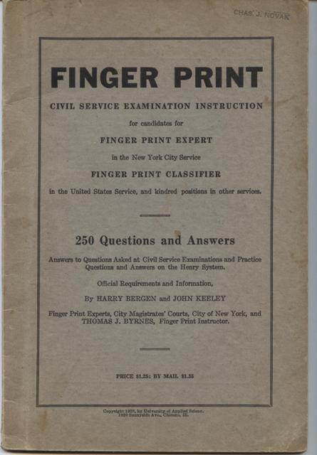 Image for Finger Print, Civil Service Examination Instruction.