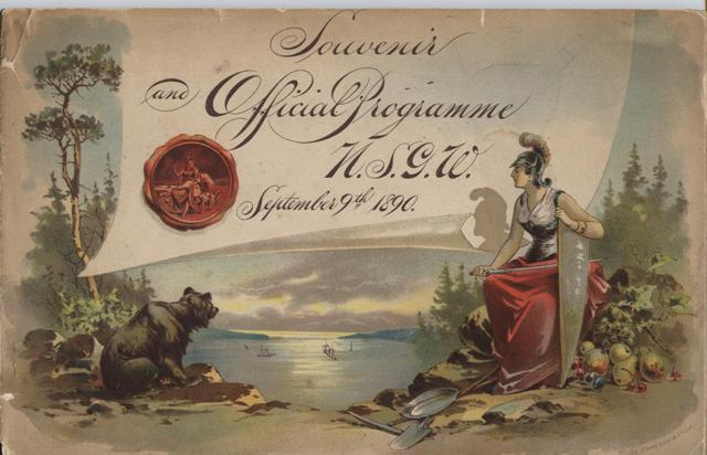 Image for Official Programme and Souvenir, Native Sons of the Golden West.  Ninth September Meeting, San Francisco 1890.