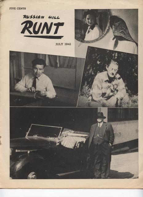Image for Russian Hill Runt.  Vol. 1 - No. 20; July, 1941