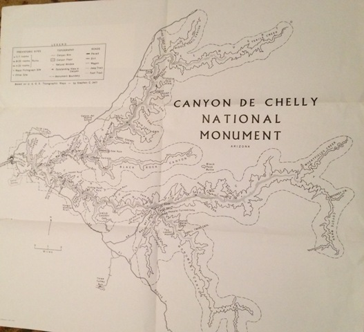 Image for Canyon De Chelly National Monument, Arizona; Based on the U. S. G. S. Topographic Maps - by Stephen C. Jett.