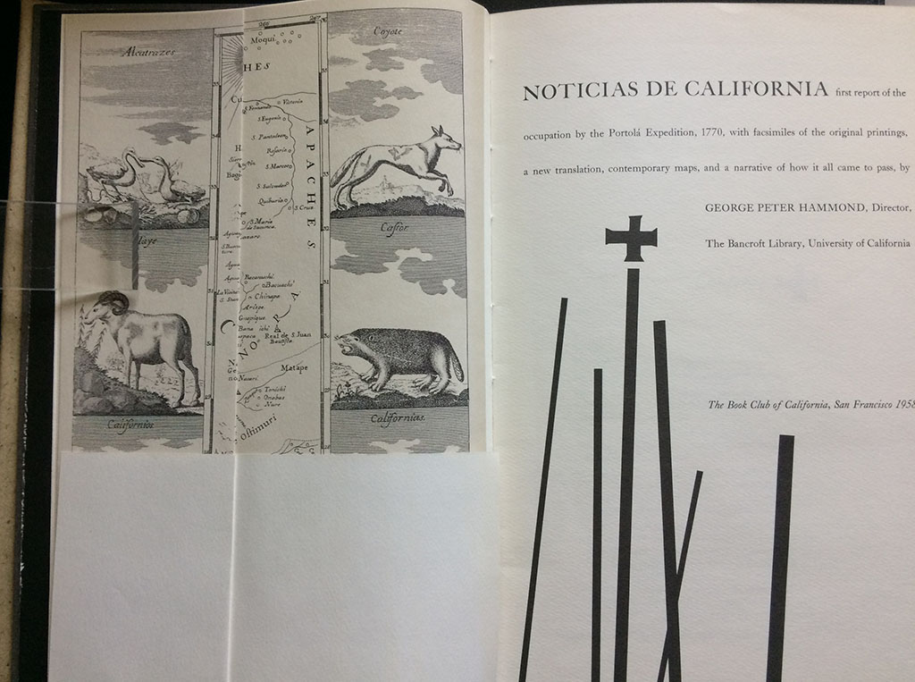 Image for Noticias de California : first report of the occupation by the Portola´ Expedition, 1770, with facsimiles of the original printings, a new translation, contemporary maps, and a narrative of how it all came to pass.