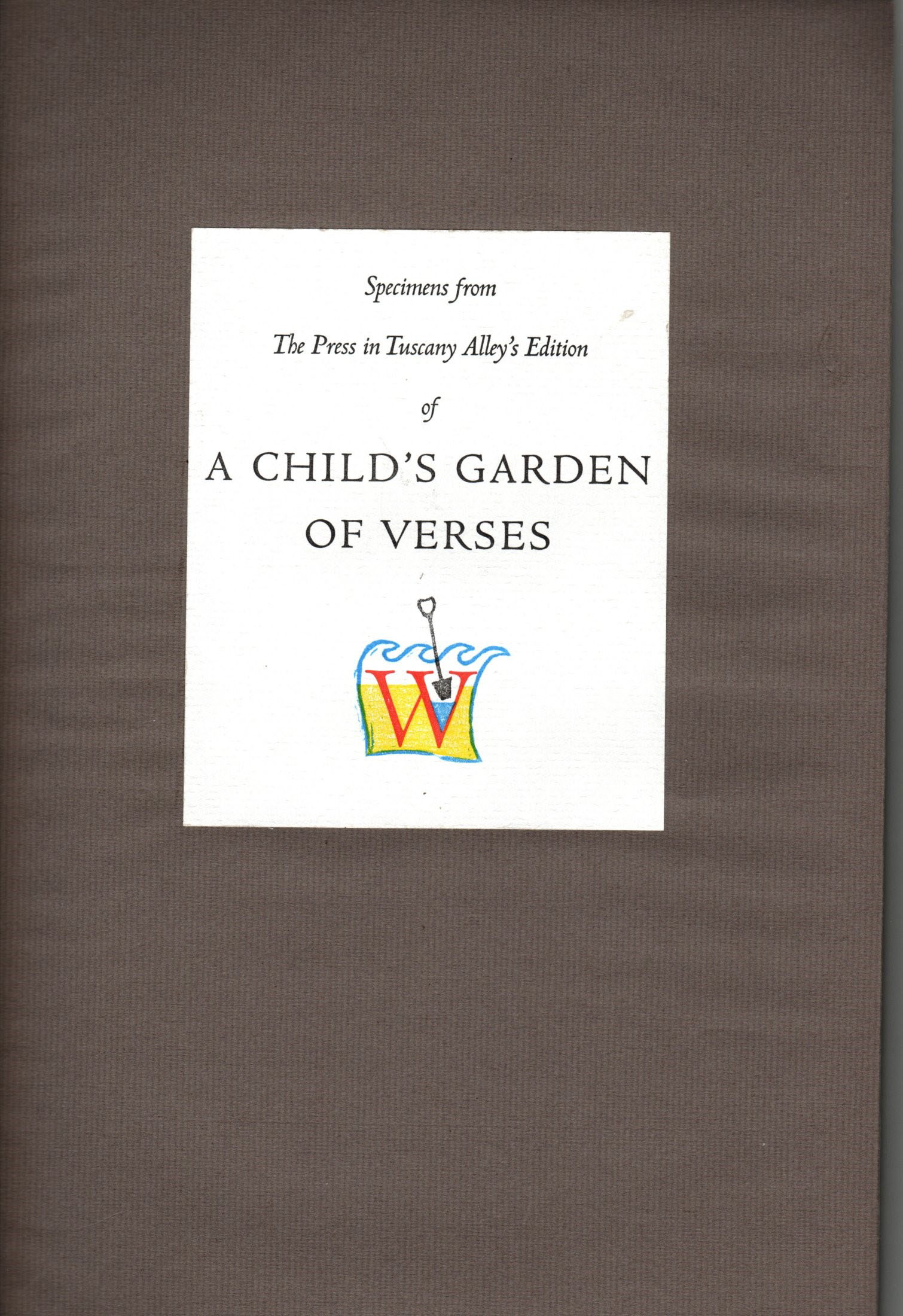Image for Specimens from A Child's Garden of Verses : with nine poems not published in prior editions.  Illustrations by Joyce Lancaster Wilson; Introduction by Janet Adam Smith.