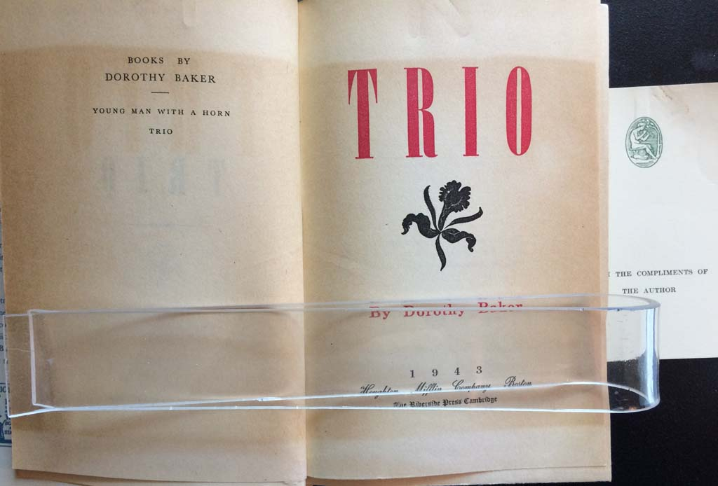 Image for Trio (with two page copy of a t.l.s. by the author to fellow writer Janet Lewis).