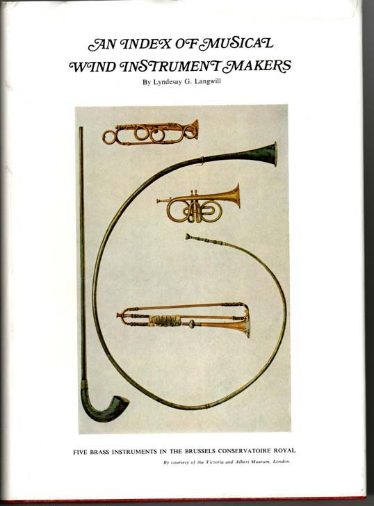Image for An Index of Musical Wind Instrument Makers.