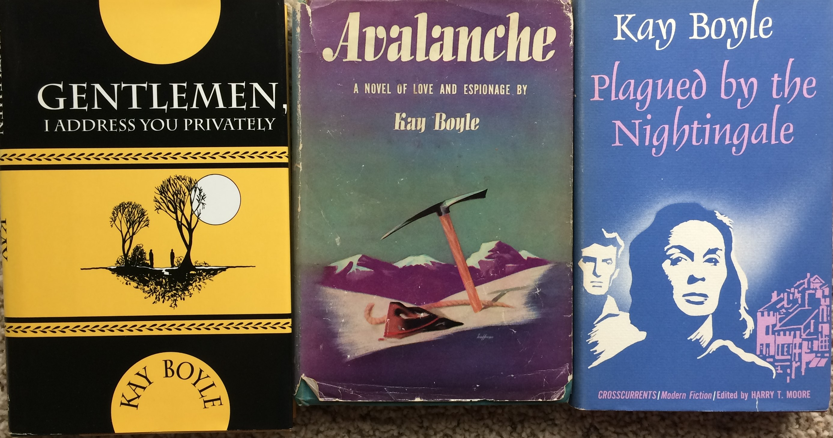 Image for (Three Titles) Avalanche (inscribed with holograph note signed); Gentlemen, I Address You Privately; Plagued by the Nightingale.