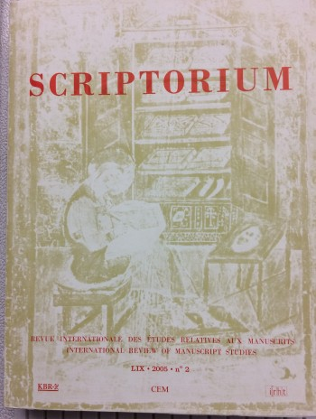 Image for SCRIPTORIUM. International Review of Manuscript Studies - Revue Internationale des Études Relatives aux Manuscrits.