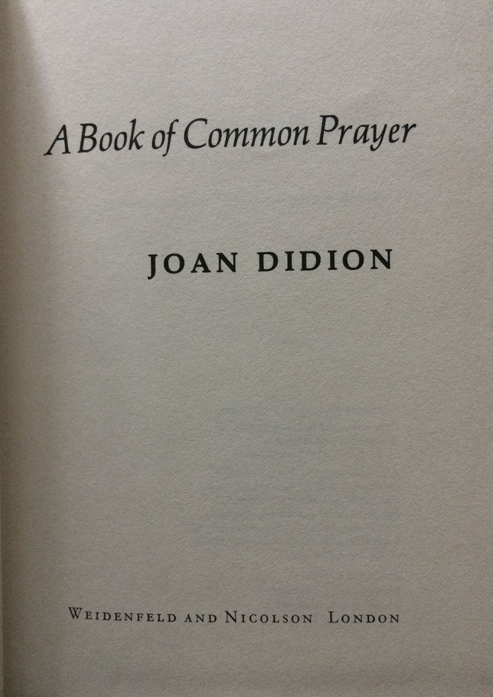 Image for A Book of Common Prayer.