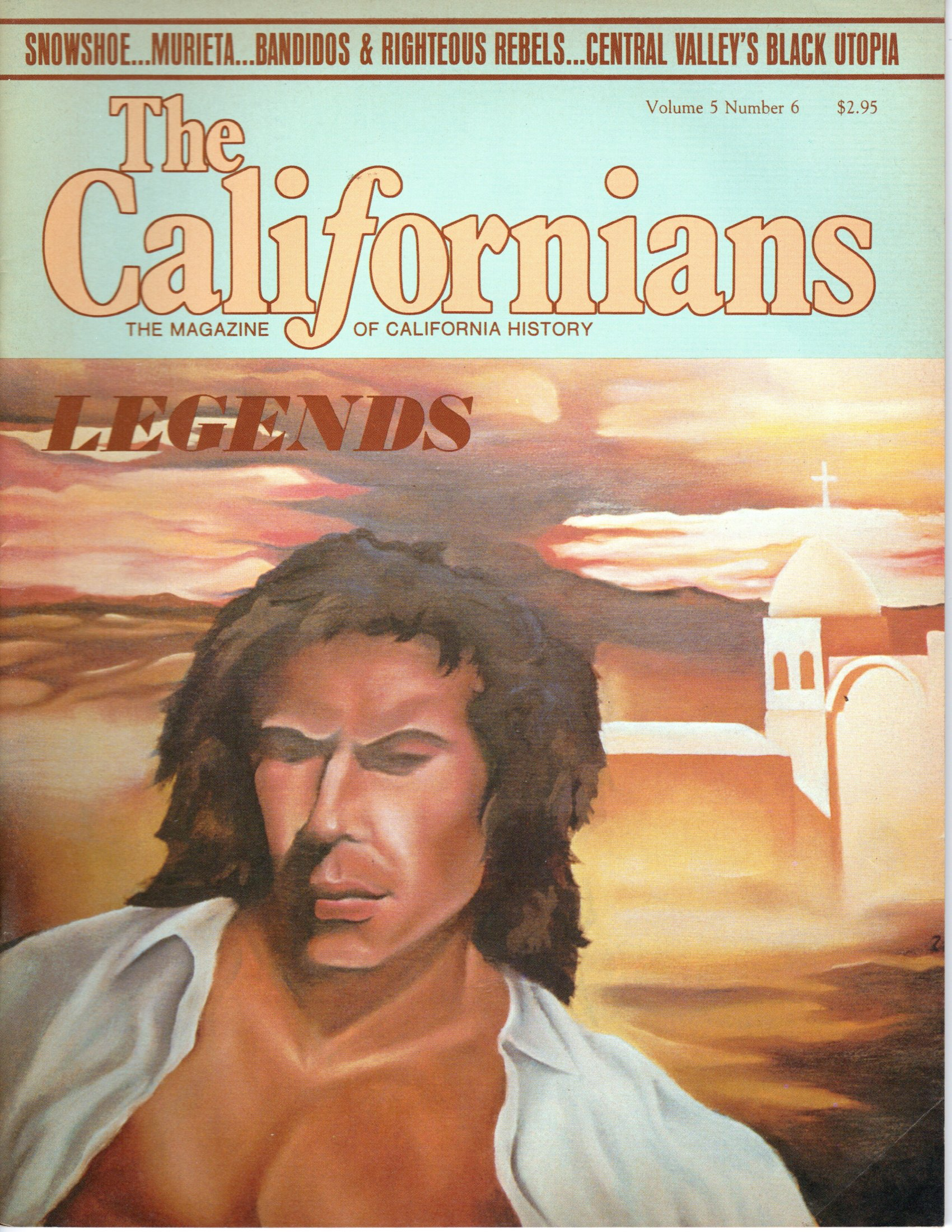 Image for The Californians. The Magazine of California History. Legends.  [Volume 5, Number 6, November/December 1987]