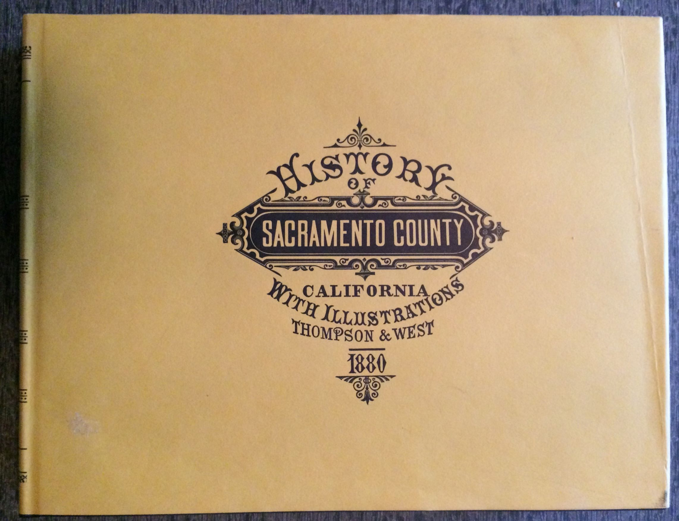 Image for History of Sacramento County California with Illustrations.  With an Introduction by Allan R. Ottley.