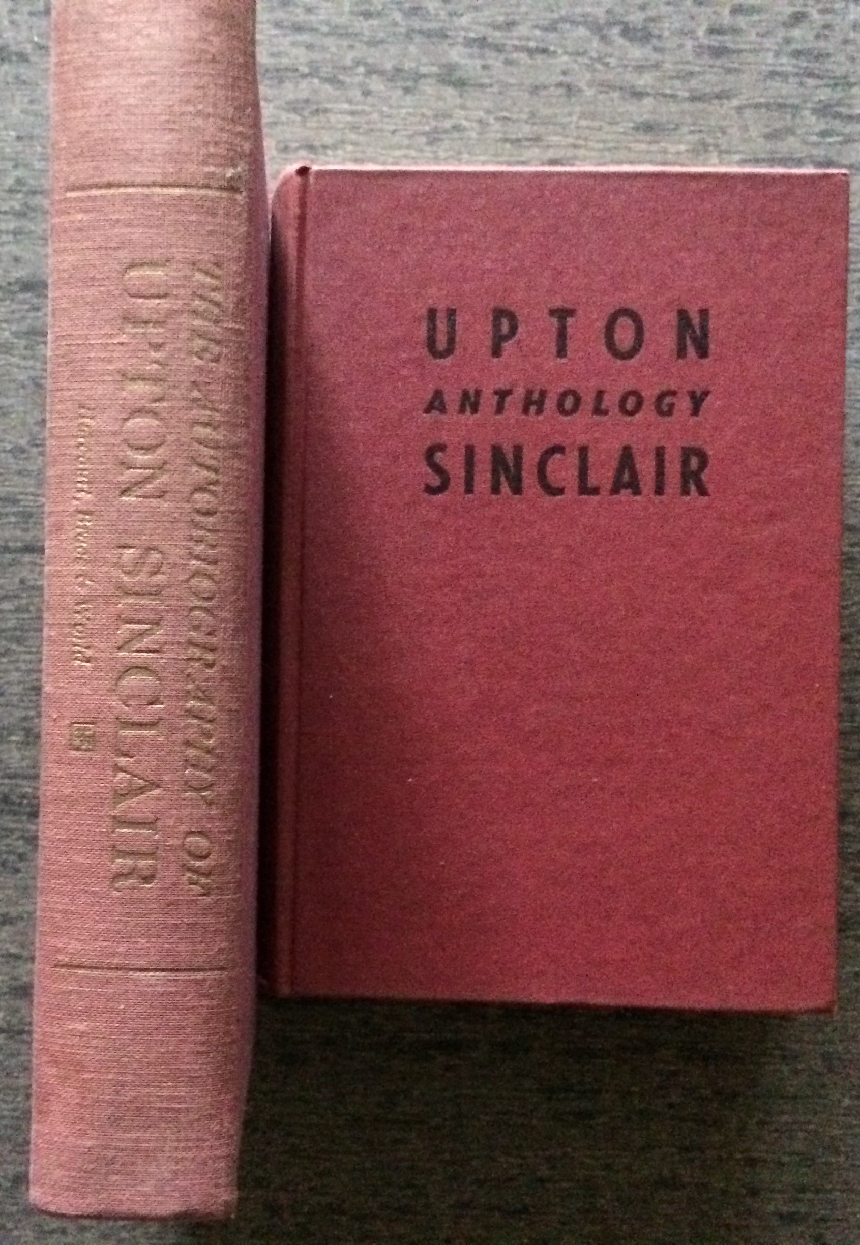 Image for (Two Items) Upton Sinclair Anthology, together with: The Autobiography of Upton Sinclair.