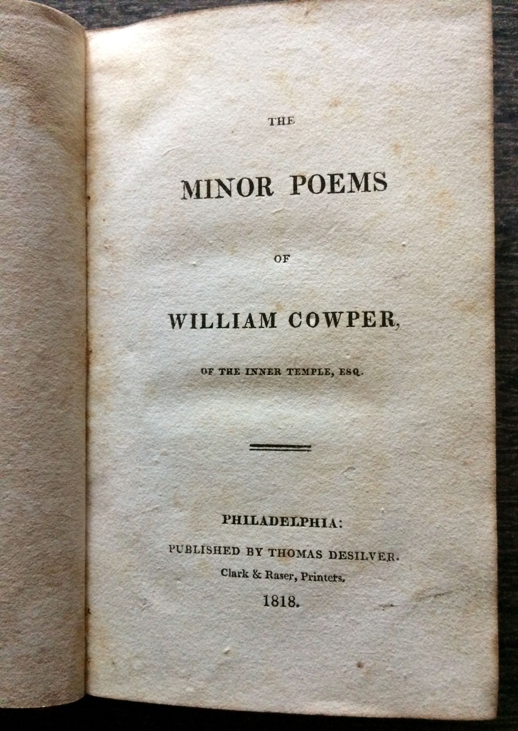 Image for The Minor Poems.