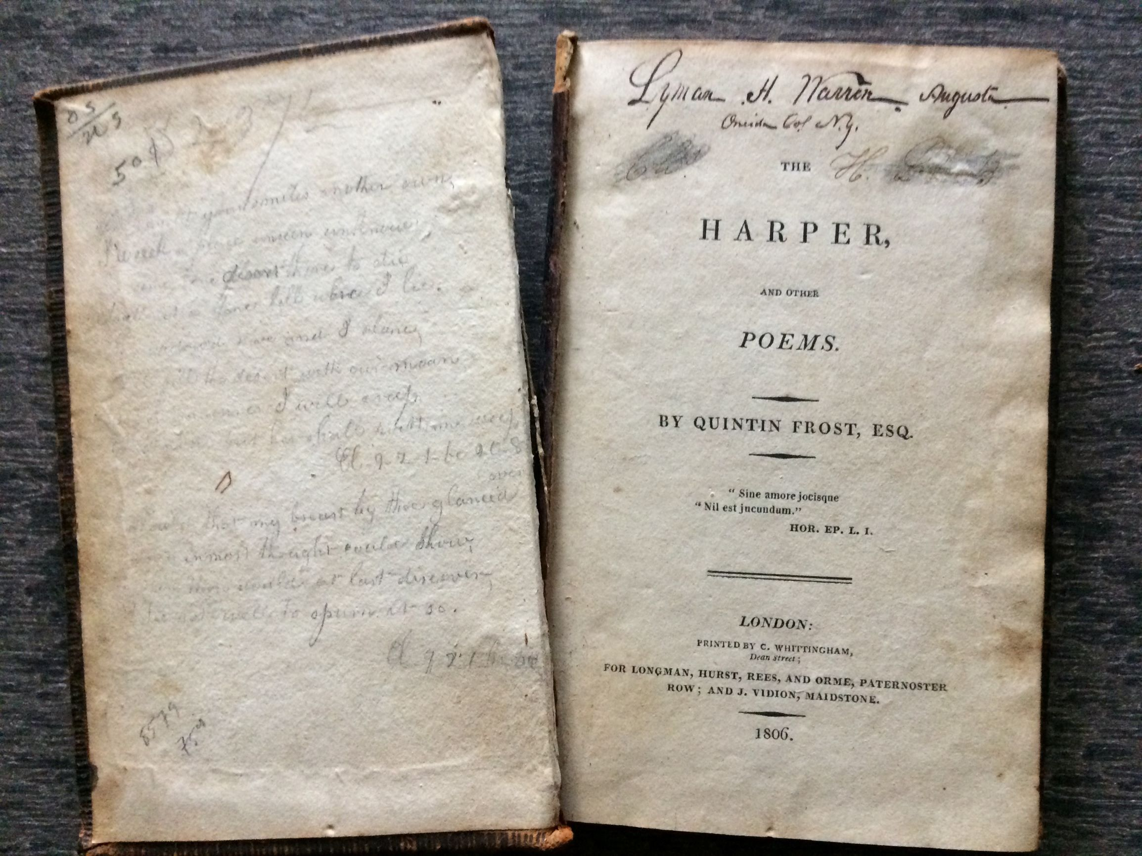 Image for The Harper, and other Poems.