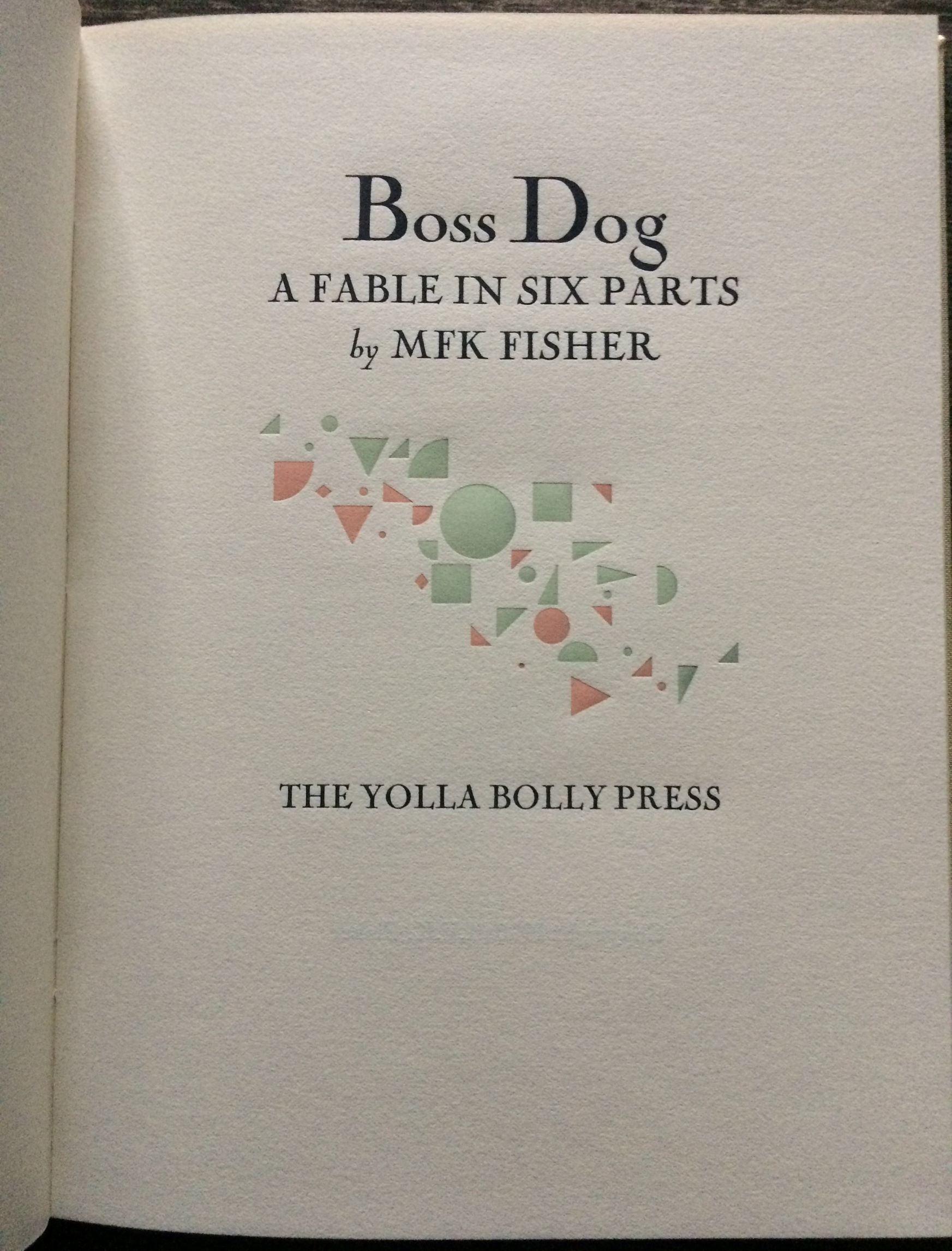Image for Boss Dog. A Fable in Six Parts.