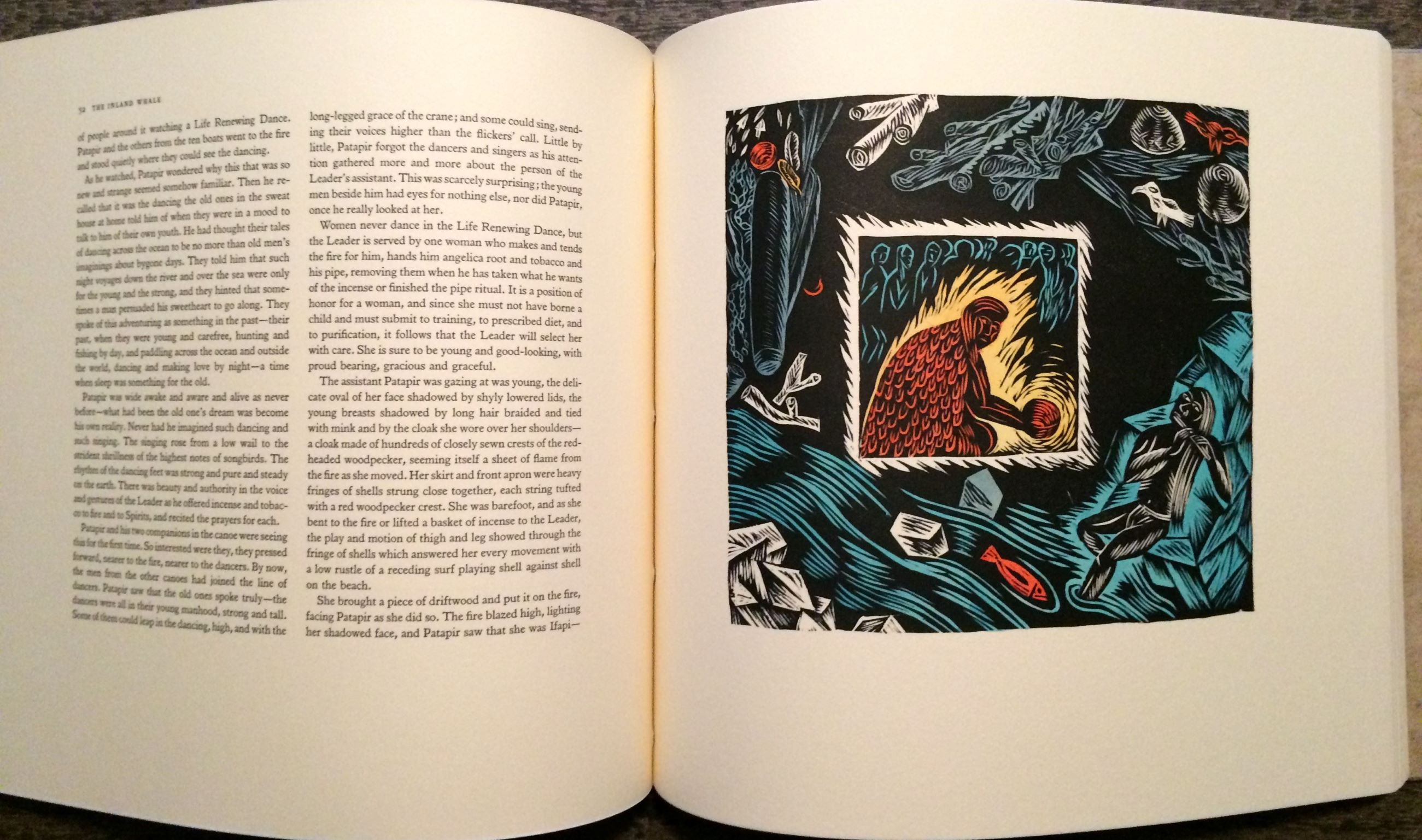 Image for The Inland Whale.  With a new forward by Ursula K. Le Guin, and woodblocks by Karin Wickstrom.