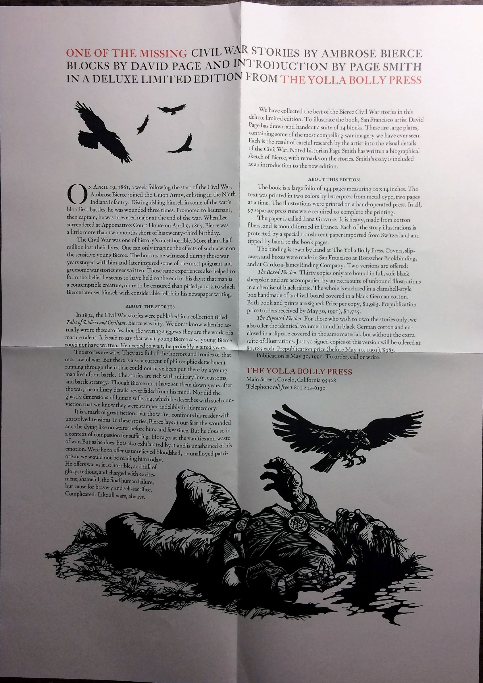 Image for One of the Missing.  With an introduction by Page Smith, and illustrations by David Page.