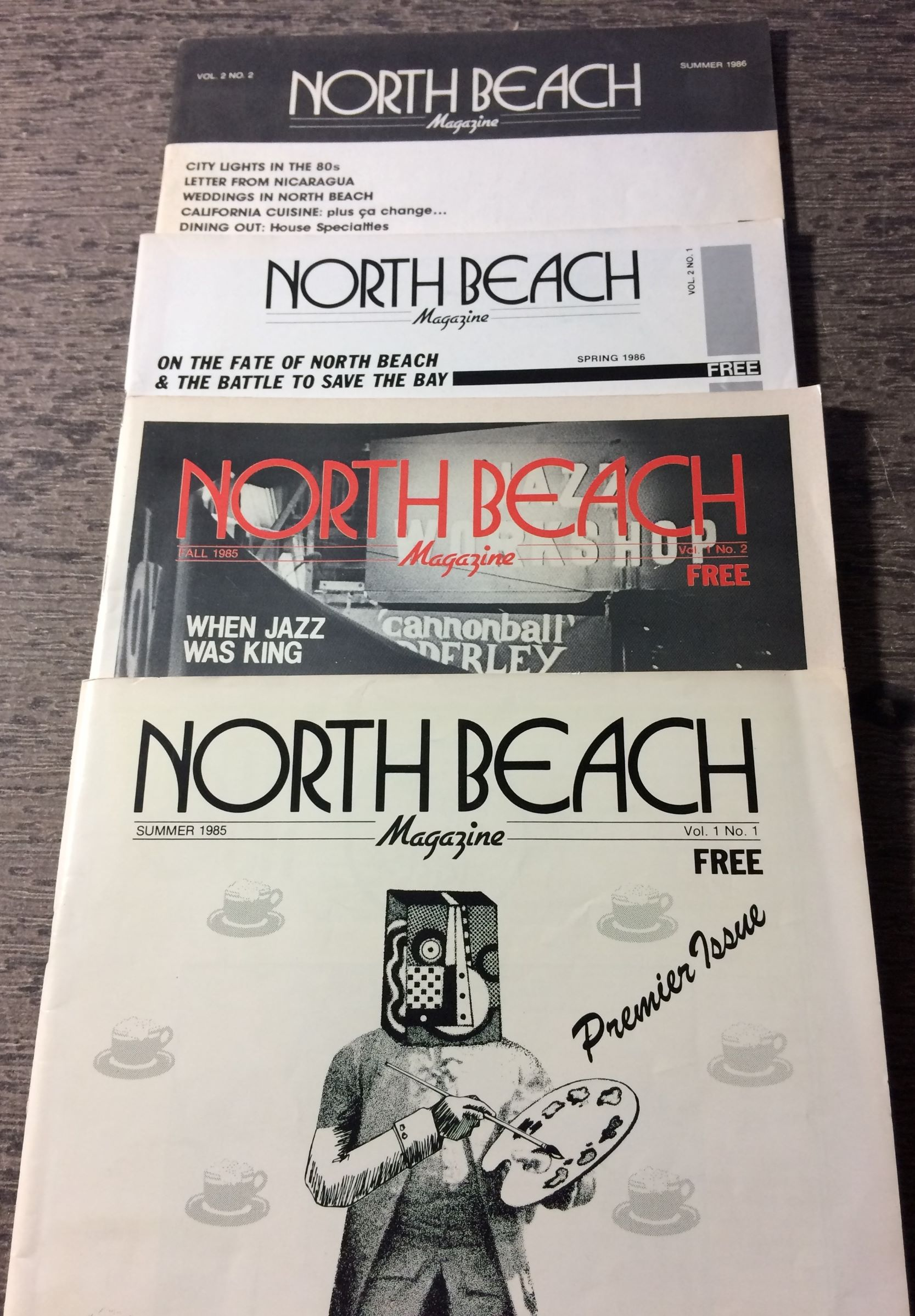 Image for North Beach Magazine (Volumes 1, Numbers 1 & 2;  Volume 2, Numbers 1 & 2).