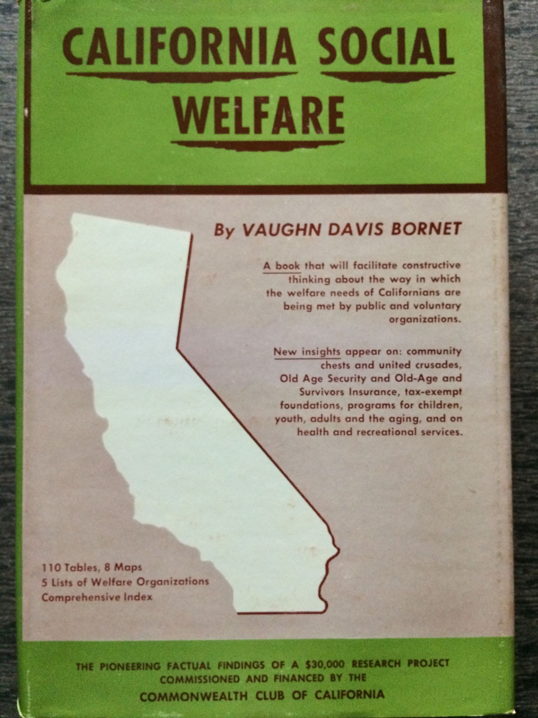 Image for California Social Welfare.  Legislation, Financin, Services, Statistics.