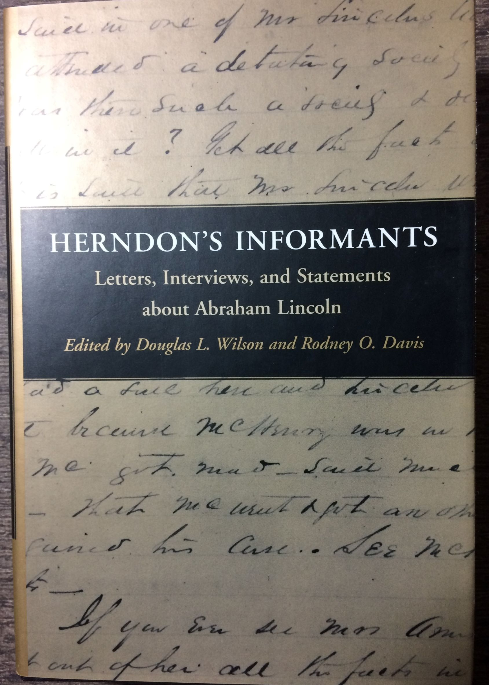 Image for Herndon's Informants, Letters, Interviews, and Statements about Abraham Lincoln.