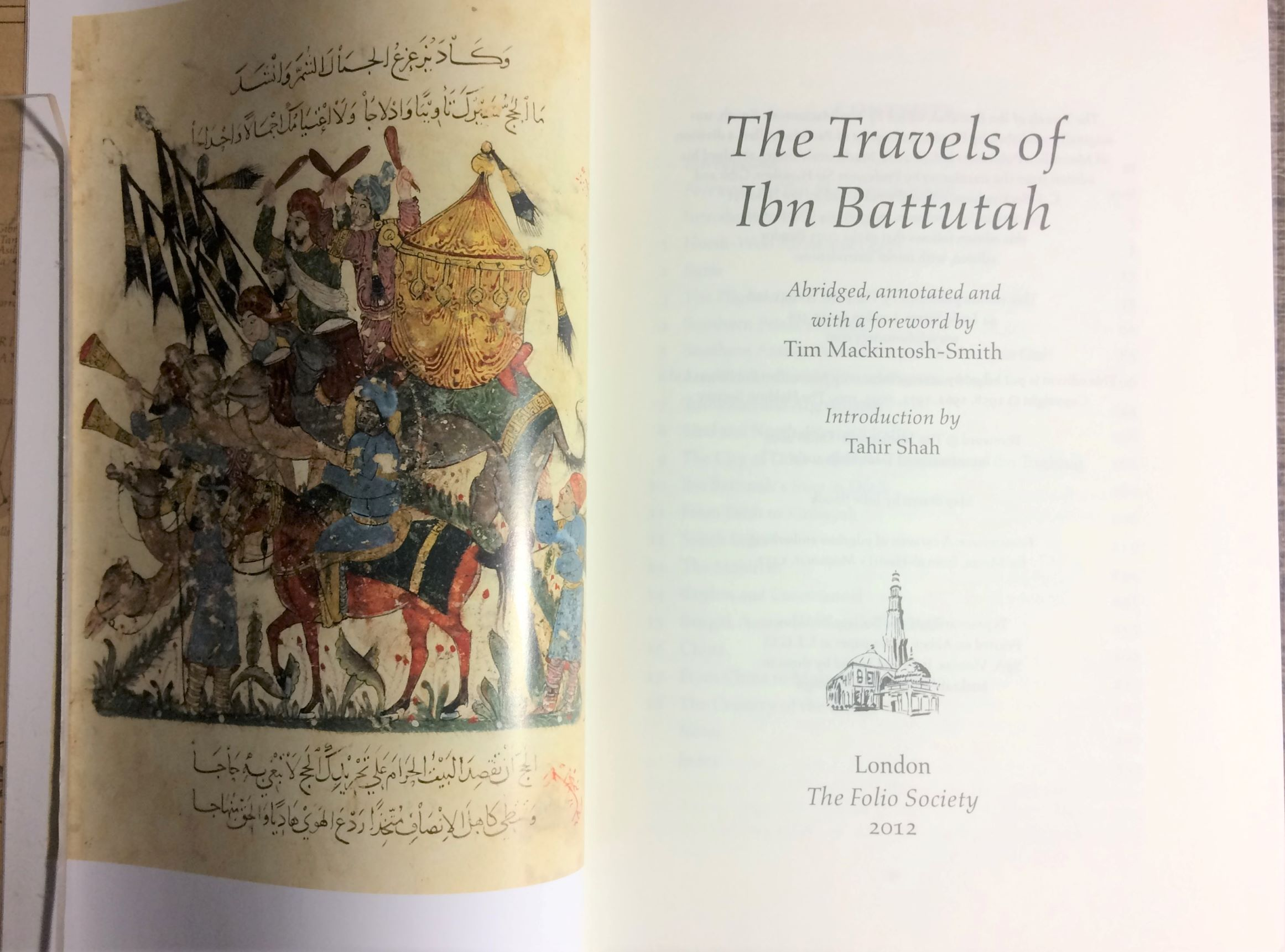 Image for The Travels of Ibn Battutah.  Abridged, annotated and with a foreword by Tim Mackintosh-Smith. Introduction by Tahir Shah.