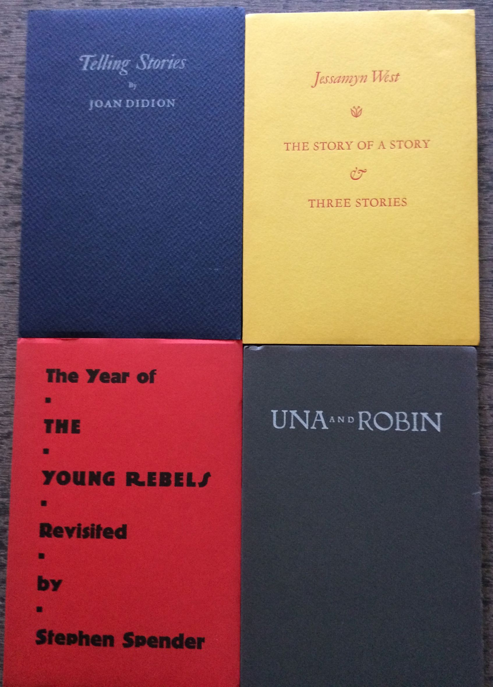 Image for [4 literary titles from the Keepsake Series] Una and Robin; Telling Stories; Story of a Story & Three Stories; The Year of the Young Rebels.