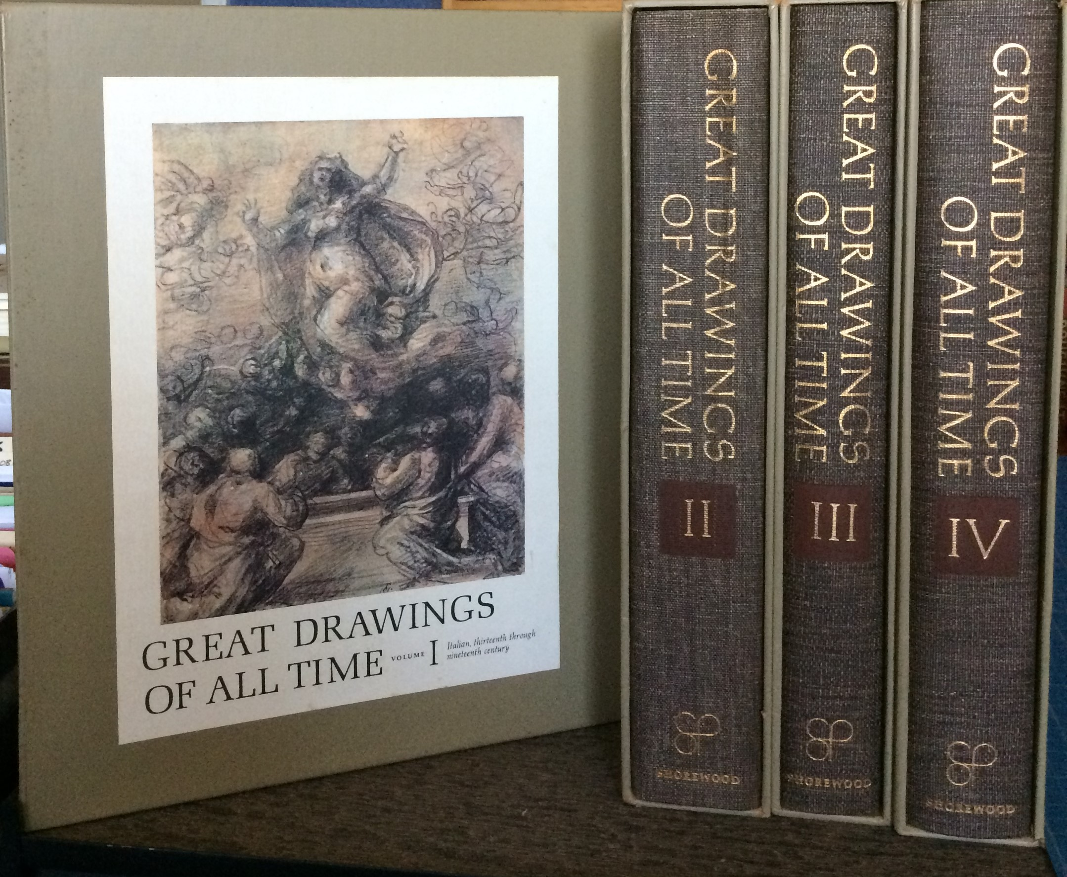 Image for Great Drawings of All Time (4 volumes, complete).