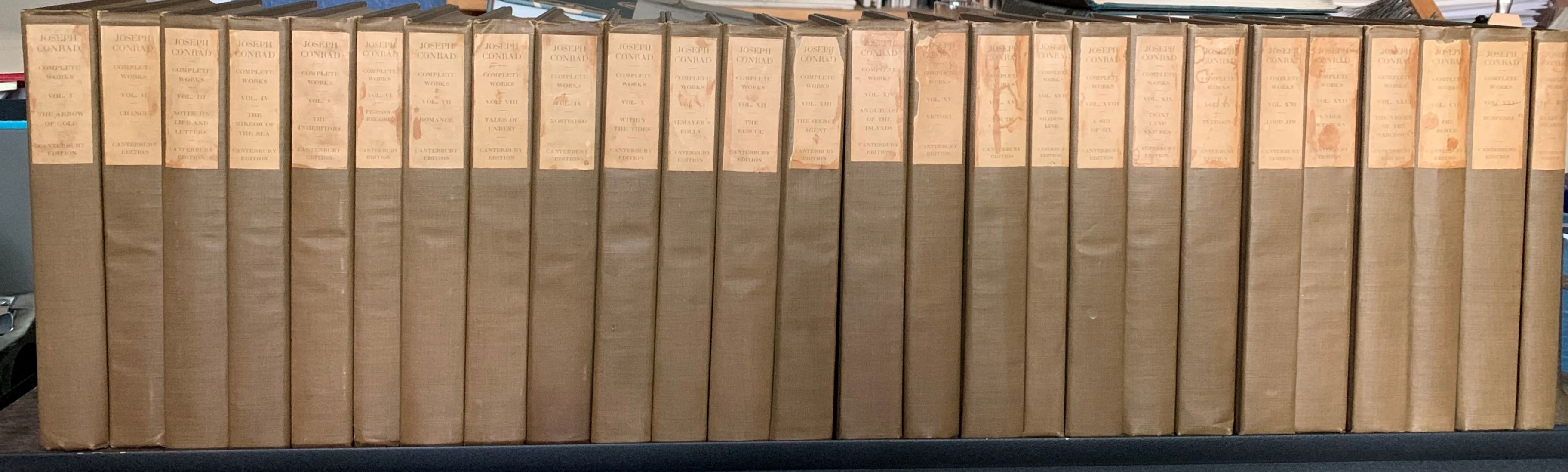 Image for Joseph Conrad, Complete Works (Spine Title, Complete in 26 Volumes).