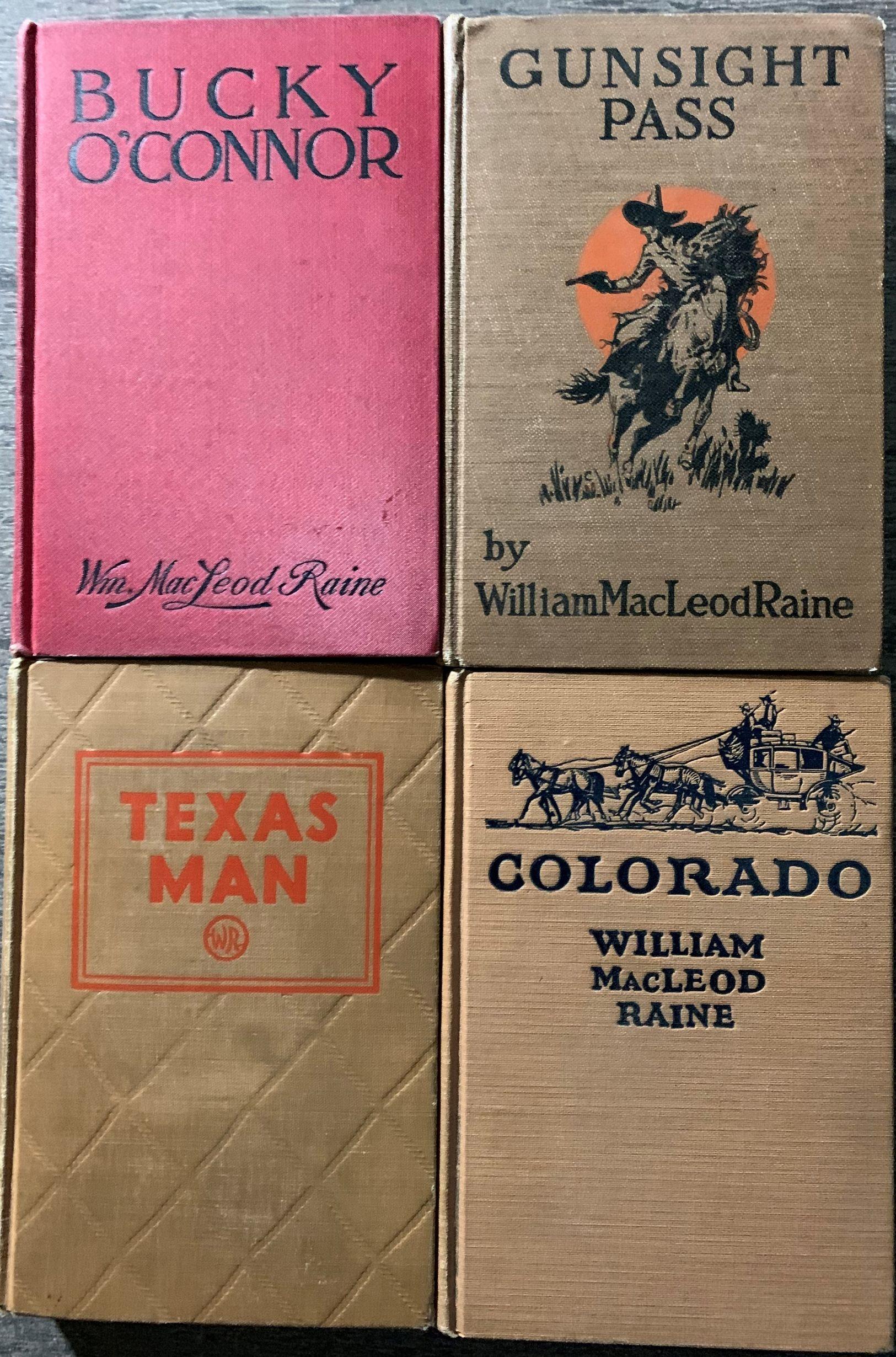 [4 titles, 1 signed by the author] Bucky O'Connor; Gunsight Pass; Texas Man; Colorado;