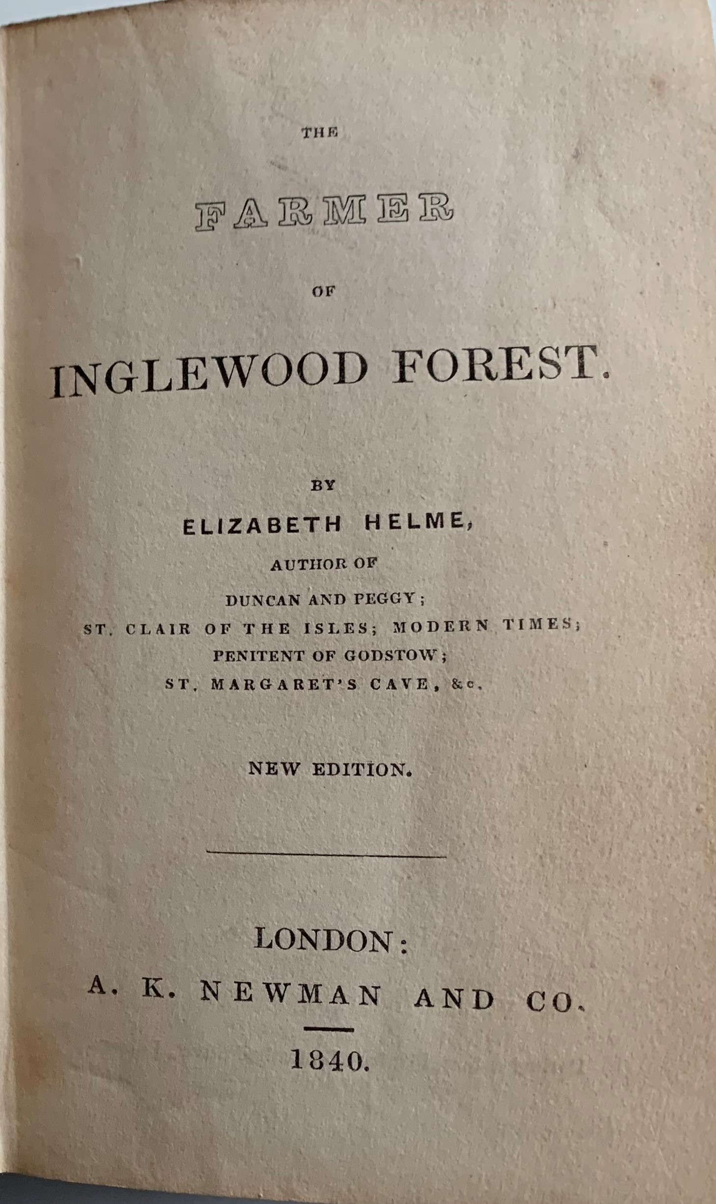 Image for The Farmer of Inglewood Forest.