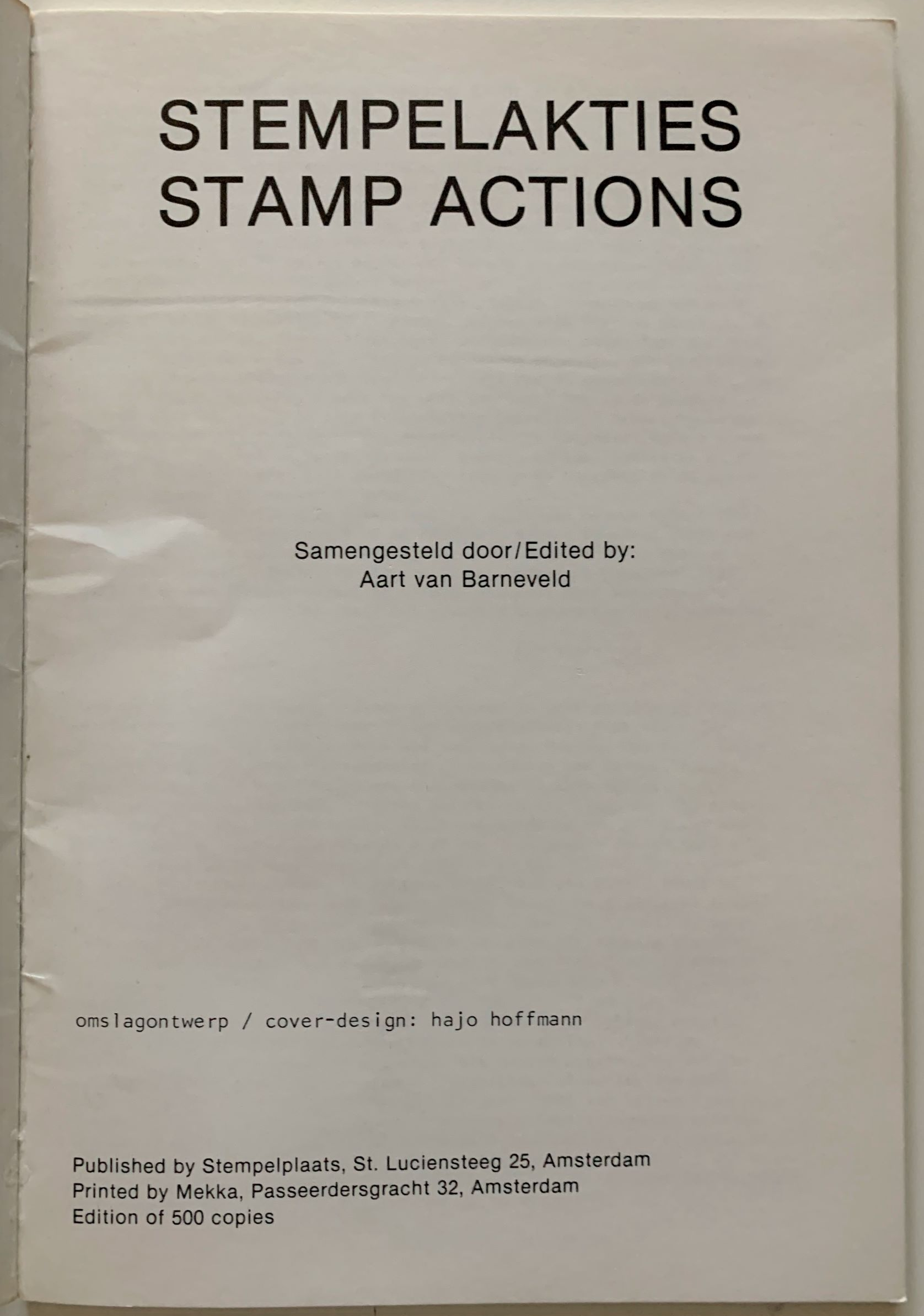 Image for Stempelakties; Stamp actions.