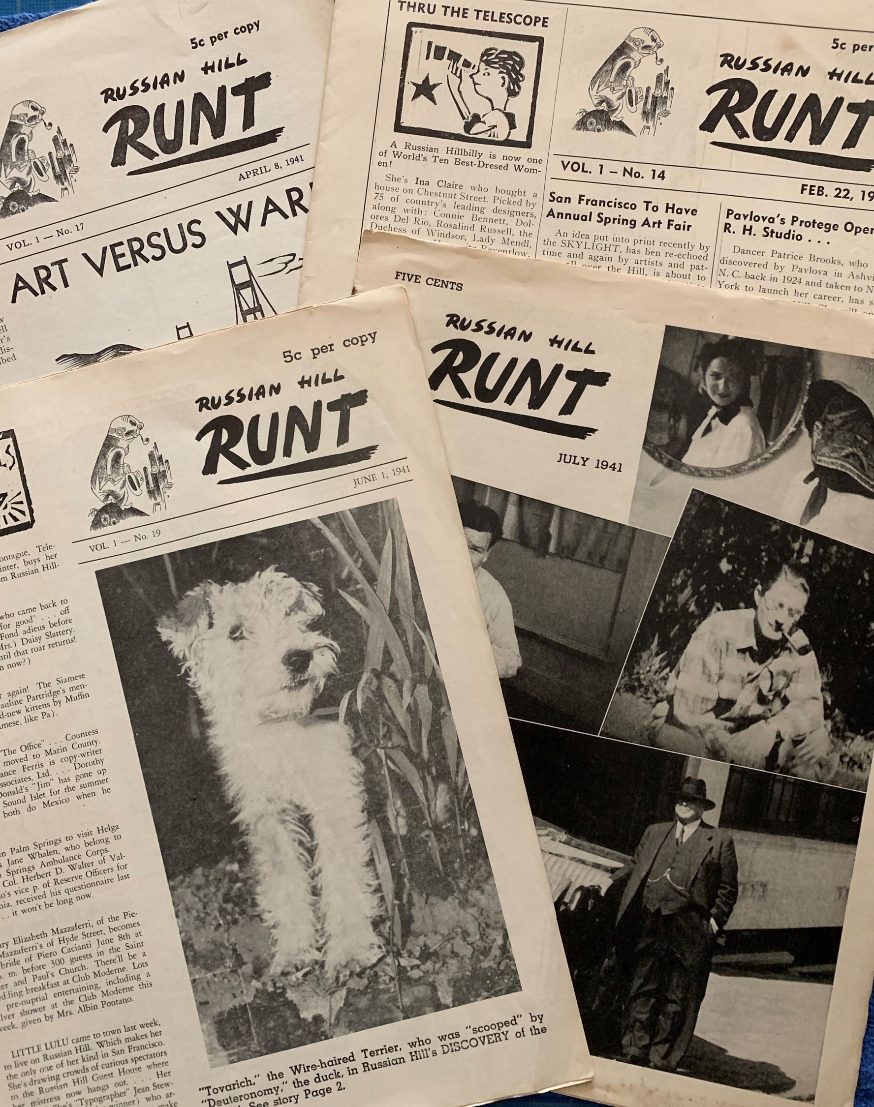 Image for Russian Hill Runt. (Four Issues).  Vol. 1, no.'s 14,17,19,20.