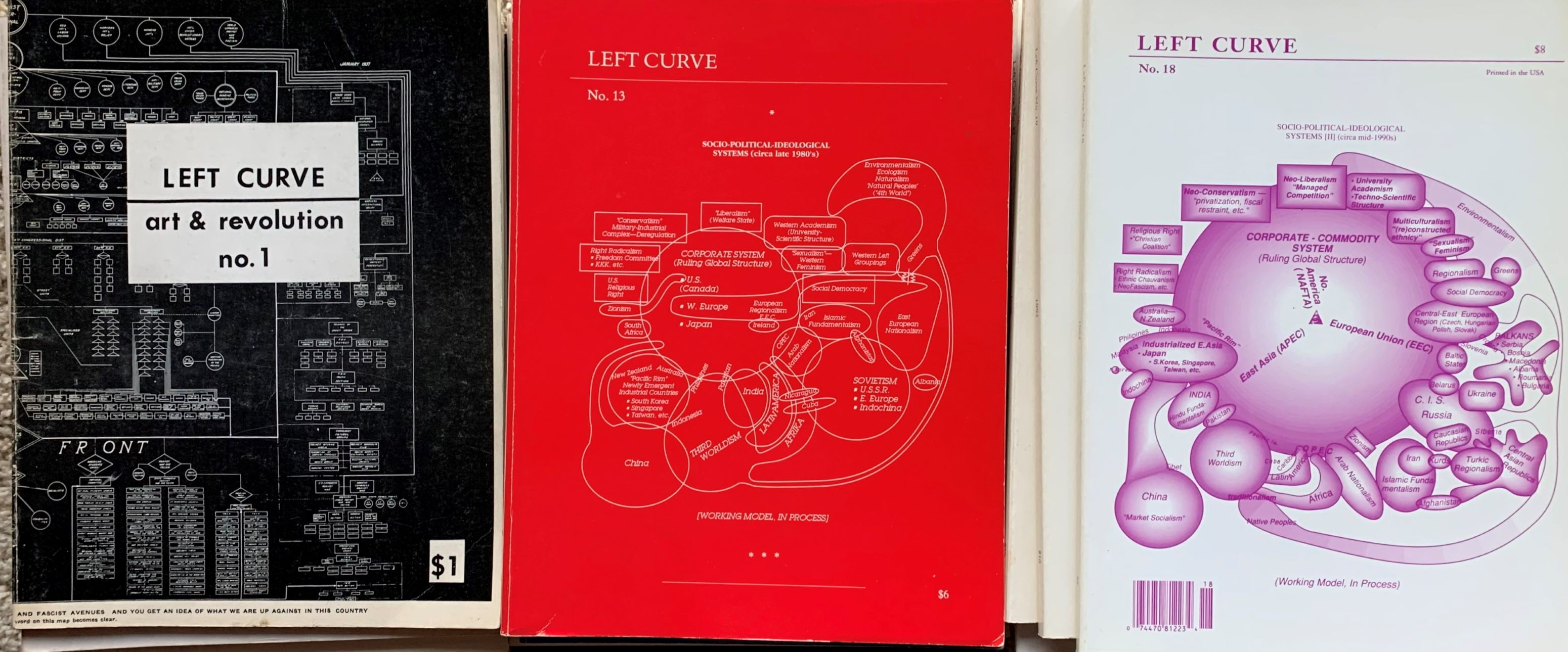 Image for Left Curve, Art & Revolution. 17 issues, No.1, Spring 1974; No. 6 1976, No. 8 1982-83, and numbers 10 thru 23, 1985-1999.
