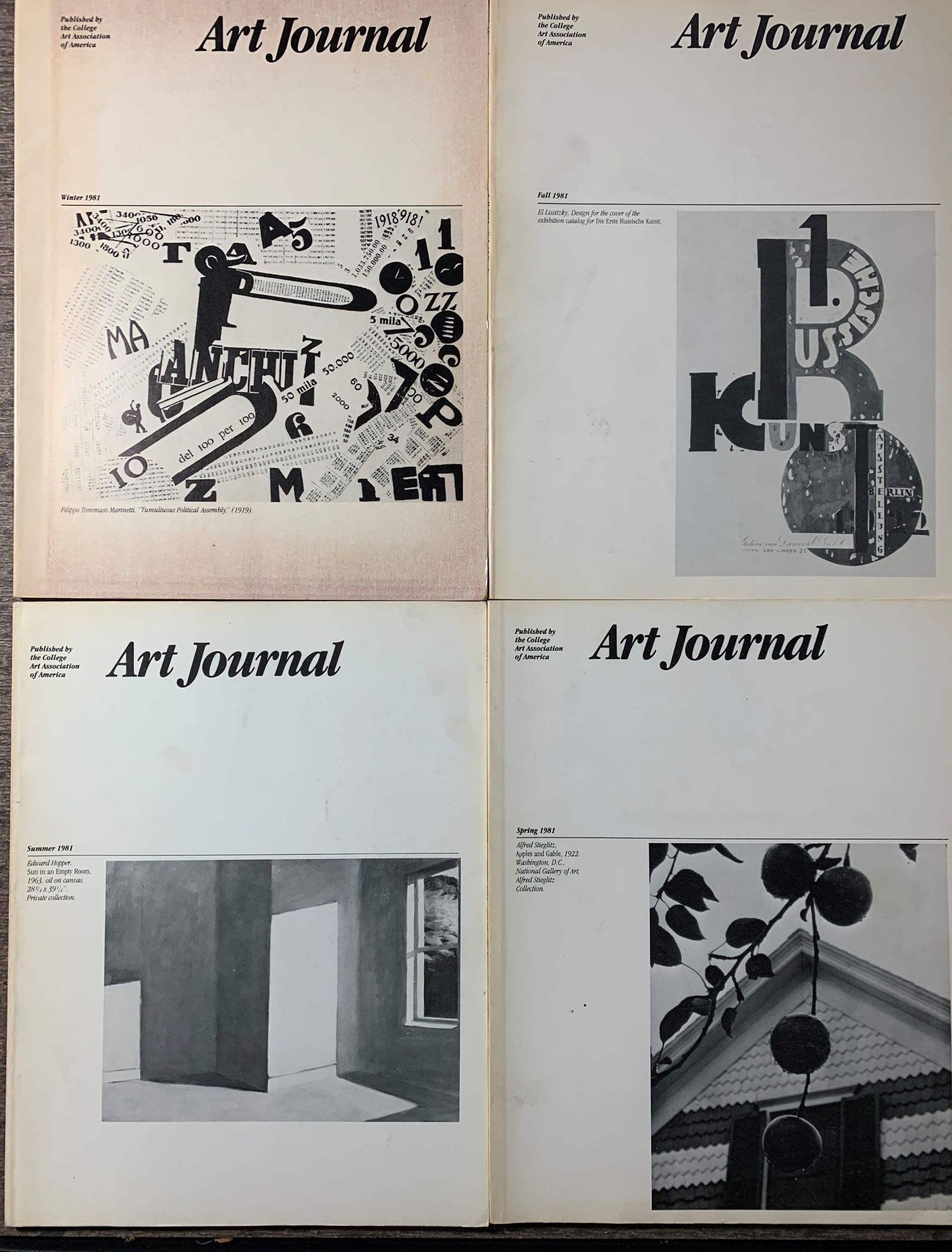Image for [4 issues] Art Journal.  Spring, Summer, Fall, Winter 1981; Volume 41, No.'s 1-4.