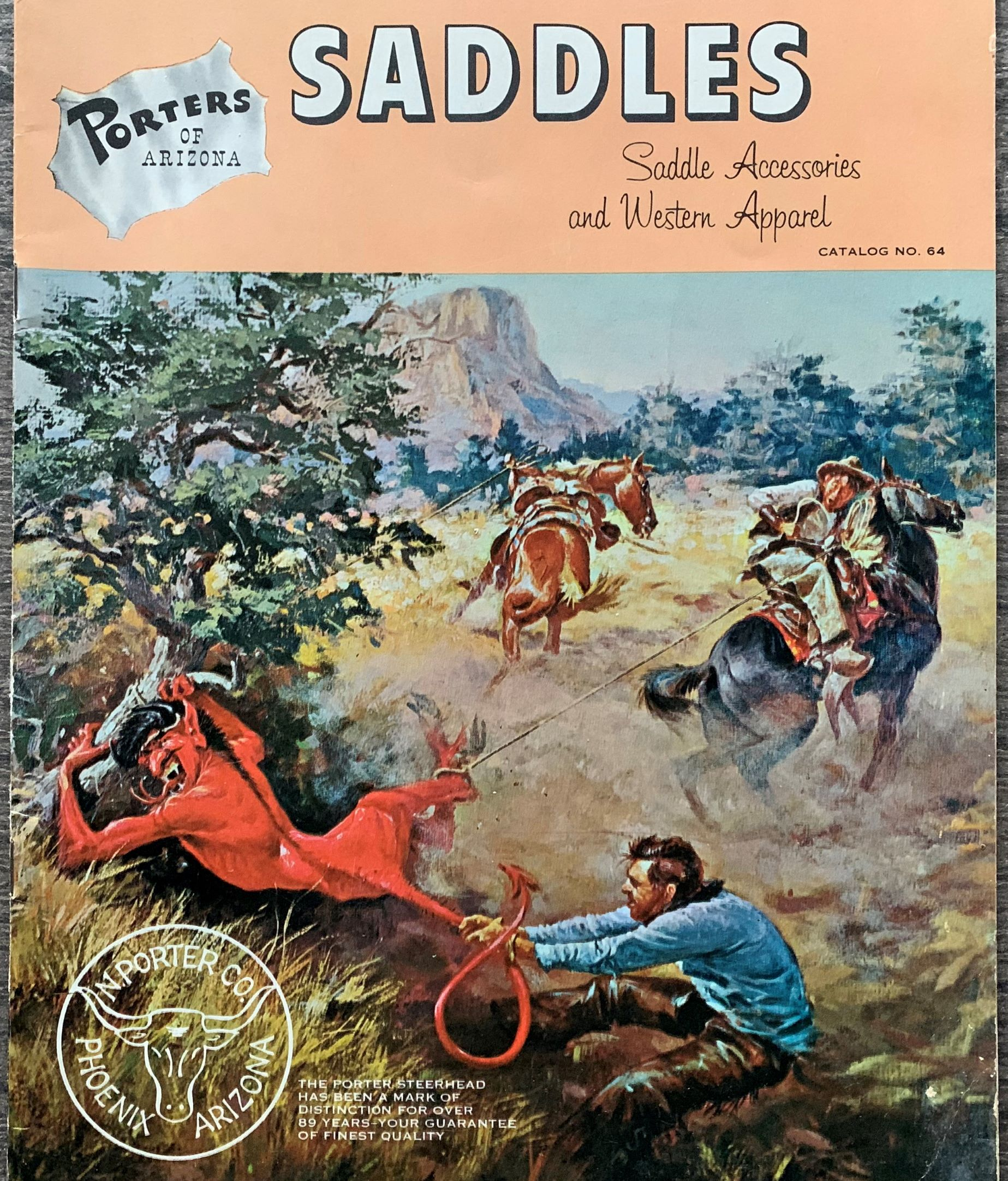 Image for Porters of Arizona, Saddles, Saddle Accessories, and Western Apparel, catalog no. 64. (cover title).