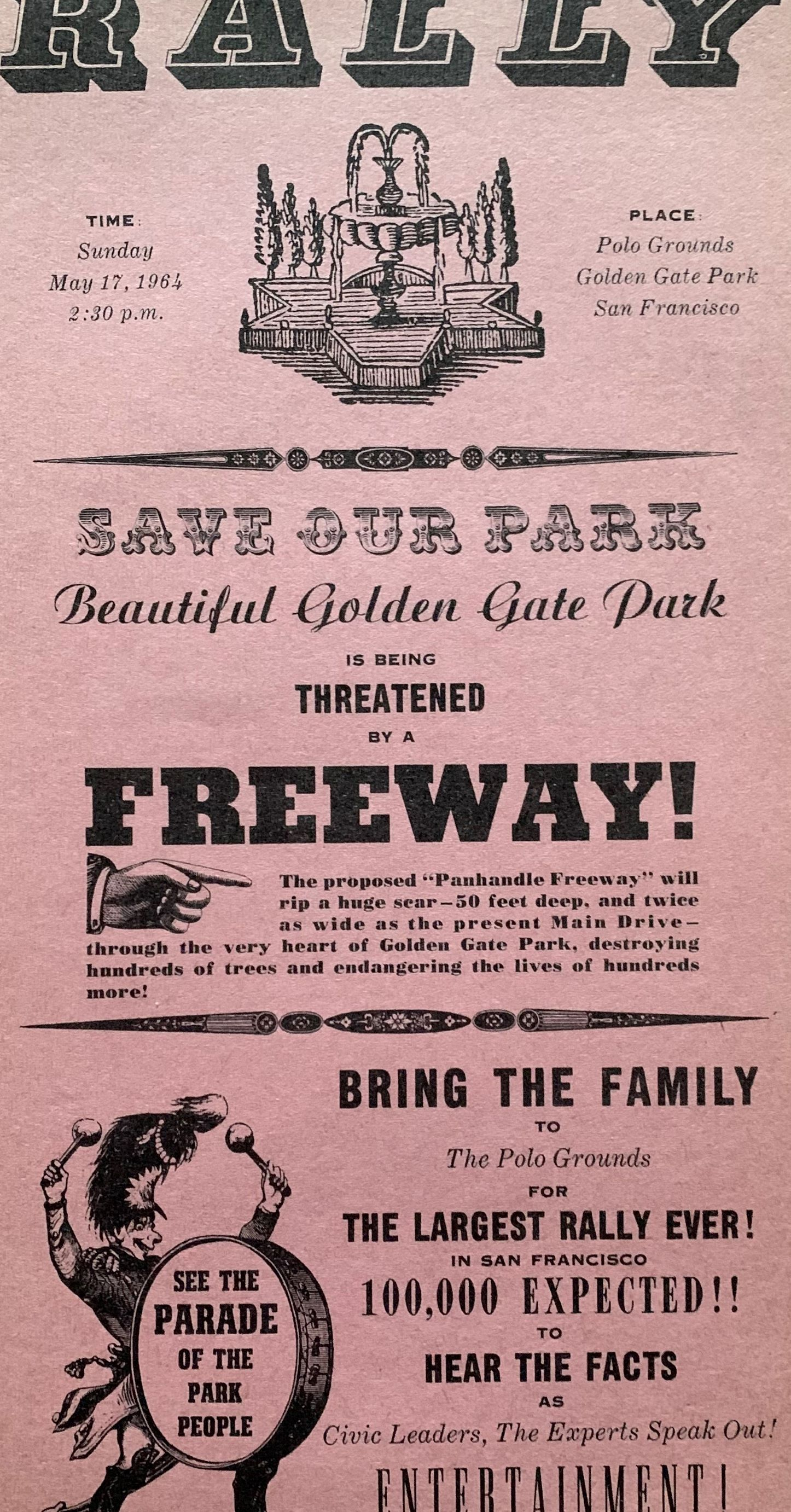 Image for [Broadside] Rally, Save Our Park, Beautiful Golden Gate Park is being THREATENED by a FREEWAY! . . .