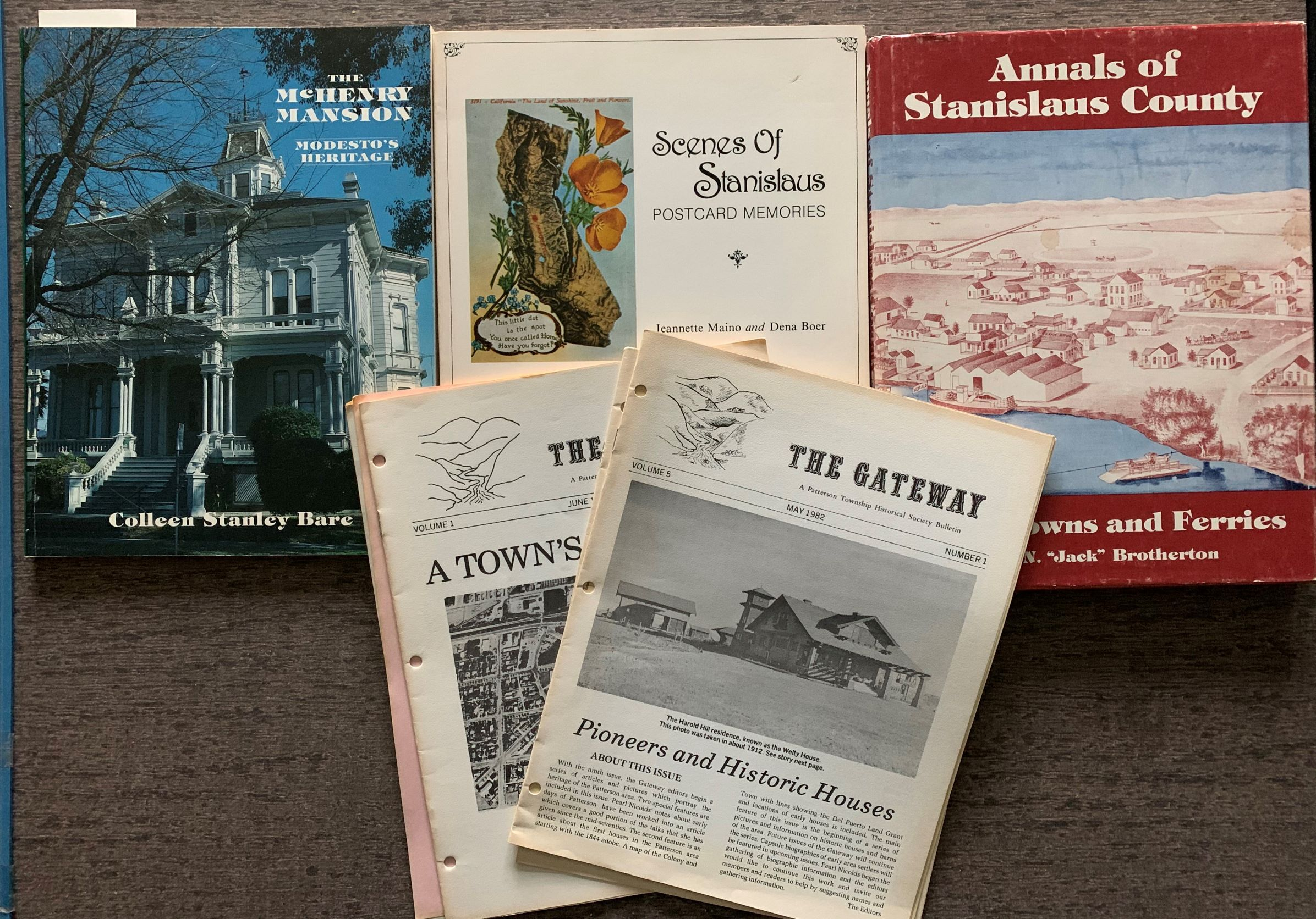 Image for [Three Titles, plus additons] The Annals of Stanislaus County, Volume 1: River Towns and Ferries; The McHenry Mansion, Modesto's Heritage [inscribed by the author]; Scenes of Stanislaus, Postcard Memories.