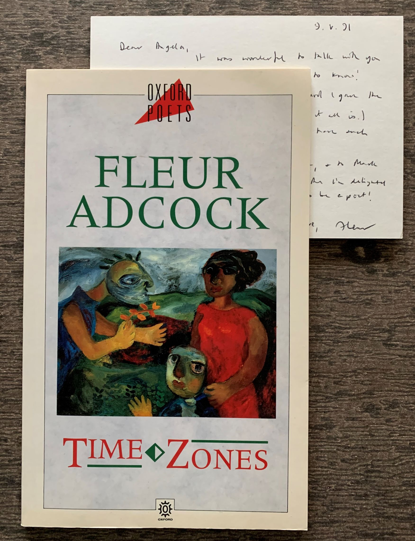 Image for Time Zones [ with holograph post card to writer Angela Carter].