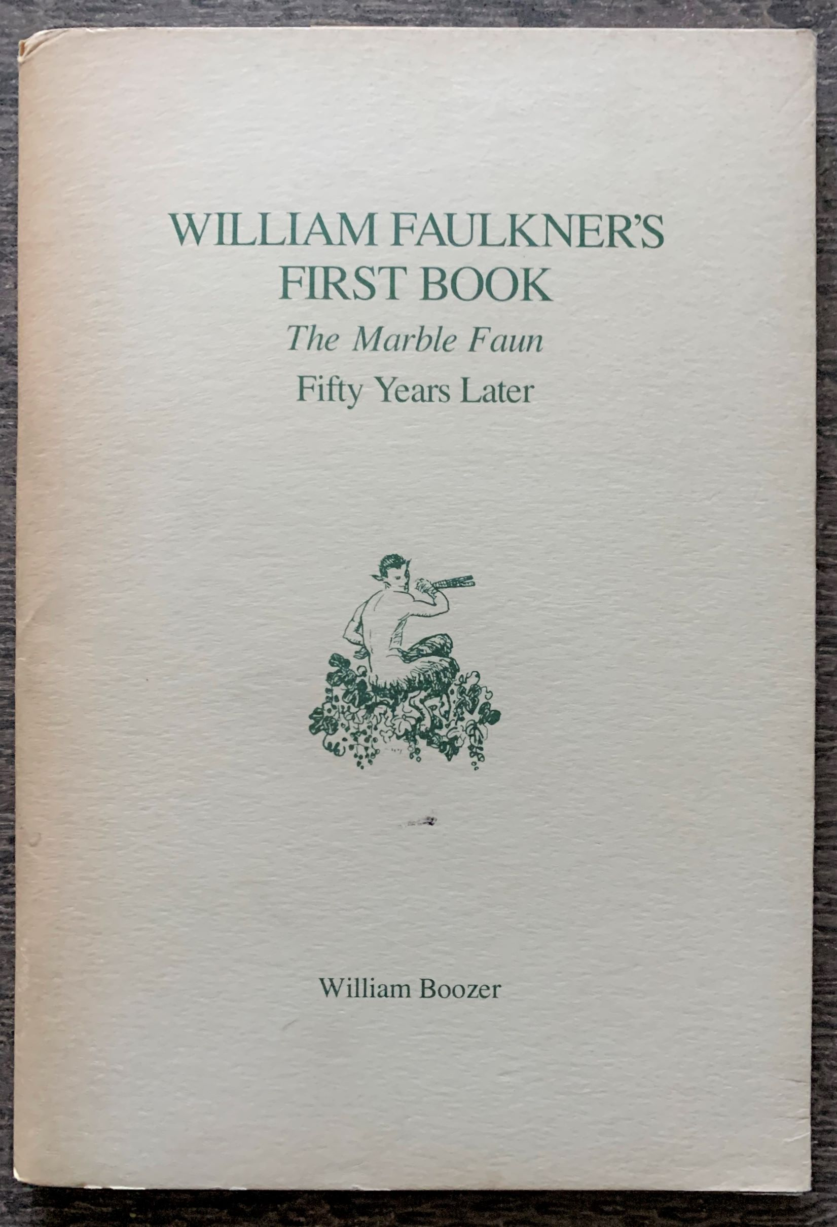 Image for William Faulkner's First Book, The Marble Faun Fifty Years Later [inscribed to Van Allen Bradley].