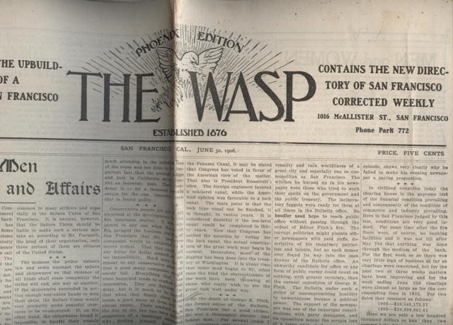 Image for The Wasp, Phoenix Edition. Devoted to the Upbuilding of a Greater San Francisco. Contains the New Directory of San Francisco, Corrected Weekly.